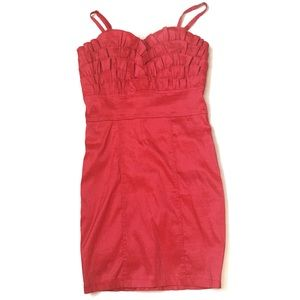 Dresses & Skirts - Fuschia fitted dress with pleated details  M